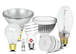 فروش  انواع لامپ کم مصرف و ال ای دی